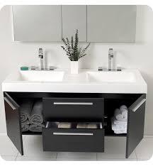 bathroom double sink cabinets. Fresca Opulento Black Modern Double Sink Mirror Faucet Cabinet Bathroom Cabinets S