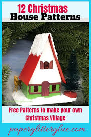 christmas house template swiss chalet miniature christmas house 12 houses for
