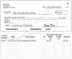 how to write a check step by step explanation an example of how to copy information from your completed check to your check register