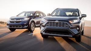2019 Toyota Rav4 Vs 2018 Honda Cr V Comparison Crossover