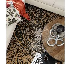 paisley printed natural fiber rug black saved view larger roll over image to zoom null null null