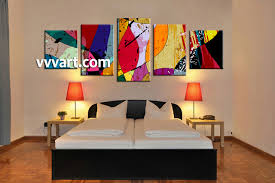 bedroom decor 5 piece wall art abstract large pictures oil paintings multi panel on large art oil painting wall decor canvas with 5 piece canvas colorful home decor abstract multi panel art