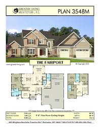 Plan 3548m the fairport house plans two story house plans 1st floor