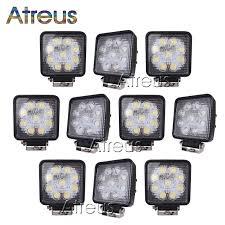 Atreus 10Pcs <b>4Inch 27W</b> High Power 9X 3W <b>Square</b> LED Work Light ...