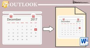 3 Quick Methods To Export Your Outlook Calendar To A Word