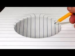 how to draw a step in line paper easy 3d trick art optical illusion for kids and s of all ages follow along and have some fun