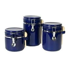 blue kitchen canister sets purple items
