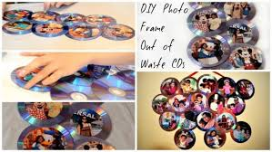 how to make waste cd photo frame