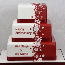 Happy Anniversary Cake Name Picture Onlinewrite Your Name On