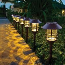 Outdoor Landscape Lighting Stainless Steel Glass Waterproof Led Solar Light Landscape Path Lights Garden Decoration Lamp Outdoor Lighting Guirlande Solaire