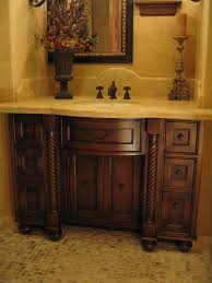 Distressed Bathroom Cabinet Hand Made Custom Distressed Alder Bow Front Bathroom Vanity By Ps