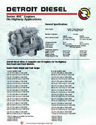 detroit diesel series 40 specs bolt torques and manuals image detroit diesel series 40 diesel engine spec sheet p1 of 2 pages