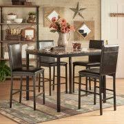 Chelsea Lane Declan 5Piece Metal Counter Height Dining Set