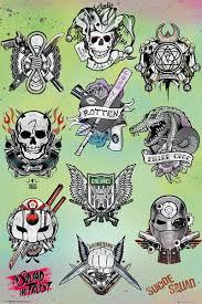 Sebevražedný Oddíl Tattoo Parlor Plakát Obraz Na Zeď Posterscz