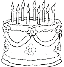 Coloring Pages Of Cakes Stephaniedlcom