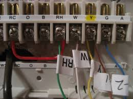 digital thermostats outback modifications outback rv owners forum Rite Temp 8050 you basically cut the power to the furnace ac, take off the cover of the old stat, label the wires,