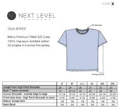 9 Size Next Level Tank Top Size Chart Prosvsgijoes Org