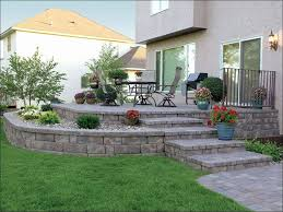 rock garden ideas diy beautiful rock patio ideas raised paver patio