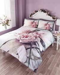 vintage rose photo print duvet quilt cover bedding set  ebay