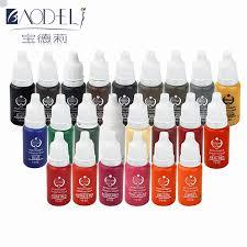 Velkoobchod 23ks Nástroje Pro Krásu Tetování Inkoust Set Pigmenty Permanentní Make Up 15ml Kosmetické Barvy Tetování Inkoust Pro Obočí Oční Linky
