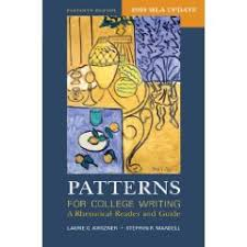 Patterns For College Writing Mesmerizing Patterns for College Writing with 48 MLA Update A Rhetorical