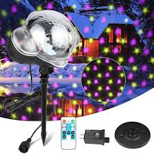 Intertek Christmas Lights Us 24 64 34 Off Professional Rgb Led Projector Snowing Light Outdoor Garden Image Landscape Projector Lamp Christmas Lights Spotlight In Stage