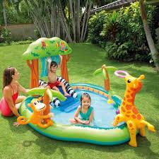 this fabulous backyard water park that my husband i mean rhpinterestcom look inflatable above ground pool inflatable above ground pool slide b11 slide