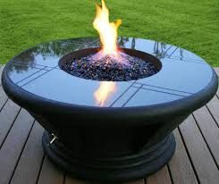 here if you have propane the fire pit glass