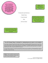 Example Apa Formatted Essay