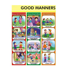 Good Habits Chart For School Good Manners Chart