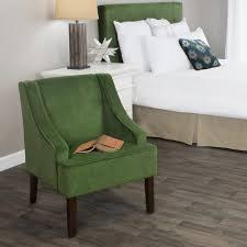 velvet accent chair. Homepop Swoop Arm Velvet Accent Chair Forest