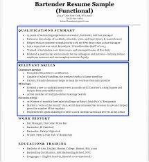 Bartender Server Resume Bartender Resume Sample Writing Tips Resume