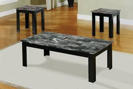 admirable coffee table with grey marble top and wood frame with four legs and white fabric