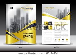 Free Report Cover Page Template Mesmerizing Business Brochure Flyer Templater Gold Cover Stock Vector Royalty