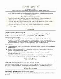 Engineering Fresher Resume Format Fresh Sample Resume A Mechanical