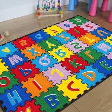 round cowhide rug kids baby room daycare classroom playroom area rug abc area
