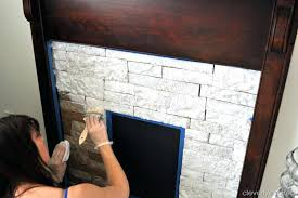 can you paint a rock fireplace creating a faux stone fireplace with 2 diy paint rock