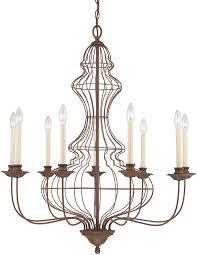 laila antique bronze 9 light large birdcage chandelier
