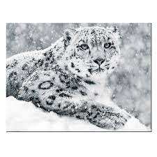 canvas wall art print poster modern leopard in snow storm canvas home decorative painting contemporary giclee artwork 24x32 in painting calligraphy from  on snow leopard canvas wall art with canvas wall art print poster modern leopard in snow storm canvas