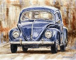 1960 volkswagen beetle by joey agbayani painting canvasmatte paintingcar