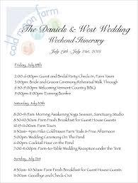 4 Sample Wedding Weekend Itinerary Templates Doc Pdf