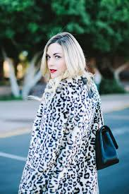 white leopard print fur coat image hd