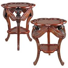 dragonfly traditional occasional end table set of 2 by design toscano