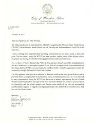 city of w s or endorsement letter winston m youth chorus city of w s or endorsement letter