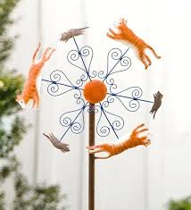 garden art wind spinners cat and mouse metal wind spinner wind spinners from wind weather on garden art wind spinners