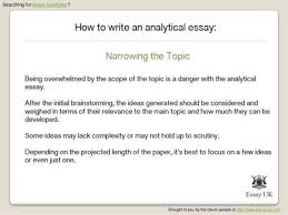 what is an analytical essay how to write an analytical essay  essay examples