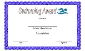 Swimming Certificate Templates Word Biya Templates