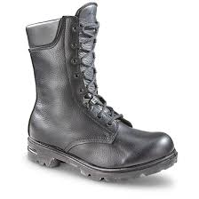 dutch military issue leather combat boots new double tap to zoom