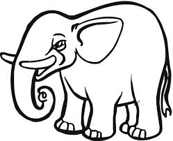 Small Picture Cut Out Elephant Coloring Page Color Book
