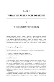 Purpose Of Descriptive Research Design Research Design